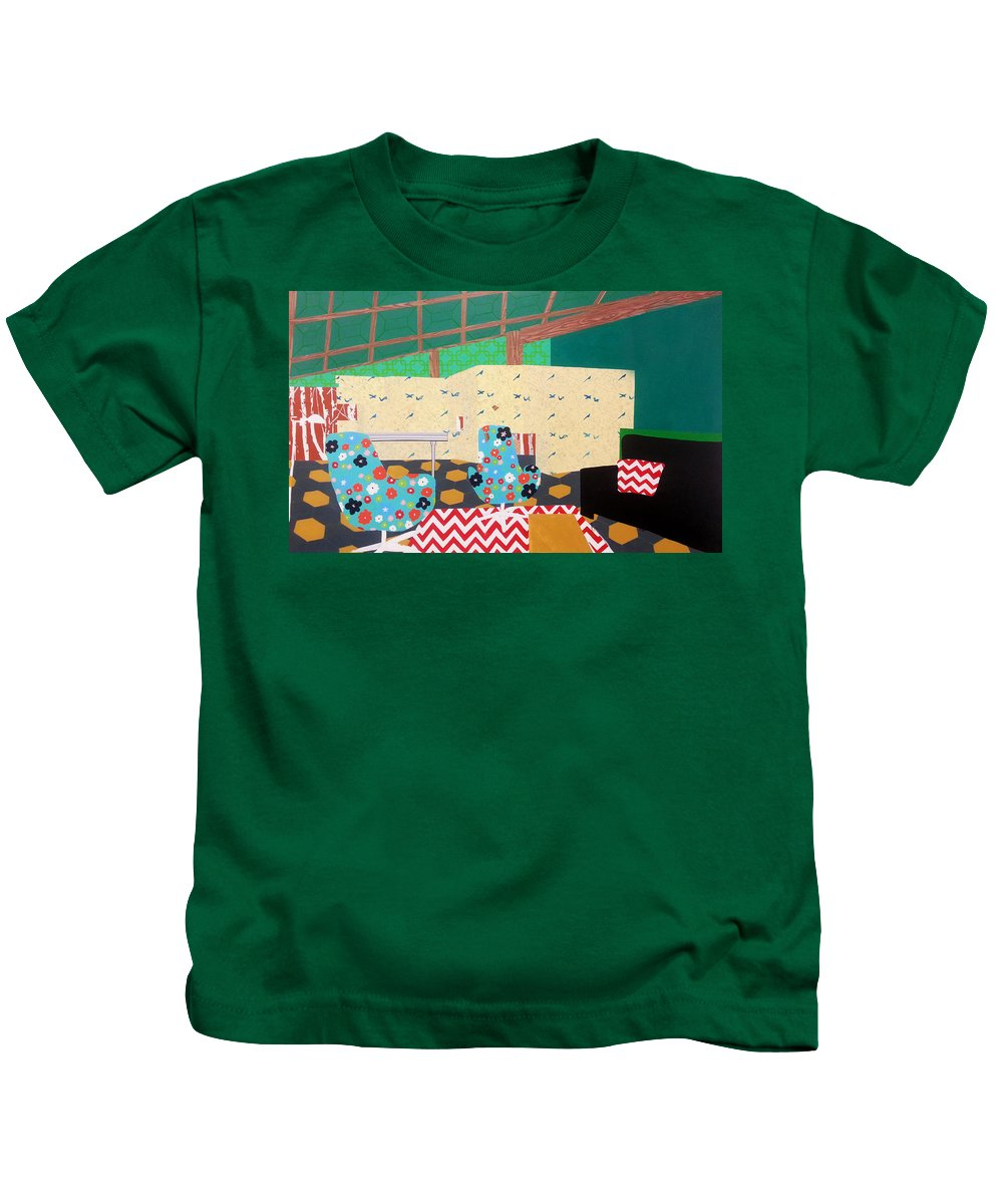 Interior Kids T-Shirt featuring the painting Roomy by Nate Petterson