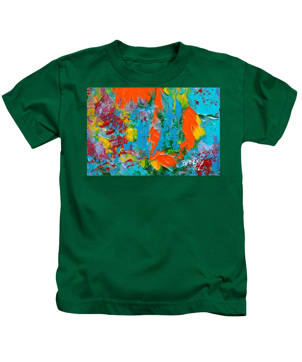 Bold Abstract Kids T-Shirt featuring the painting Snorkeling by Donna Blackhall
