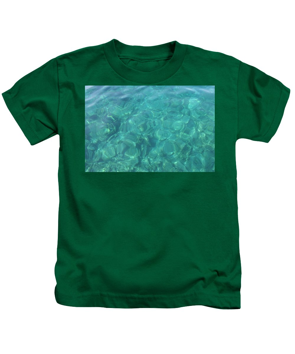 Mediterranean Sea Kids T-Shirt featuring the photograph The Mediterranean Lyrics by Taiche Acrylic Art