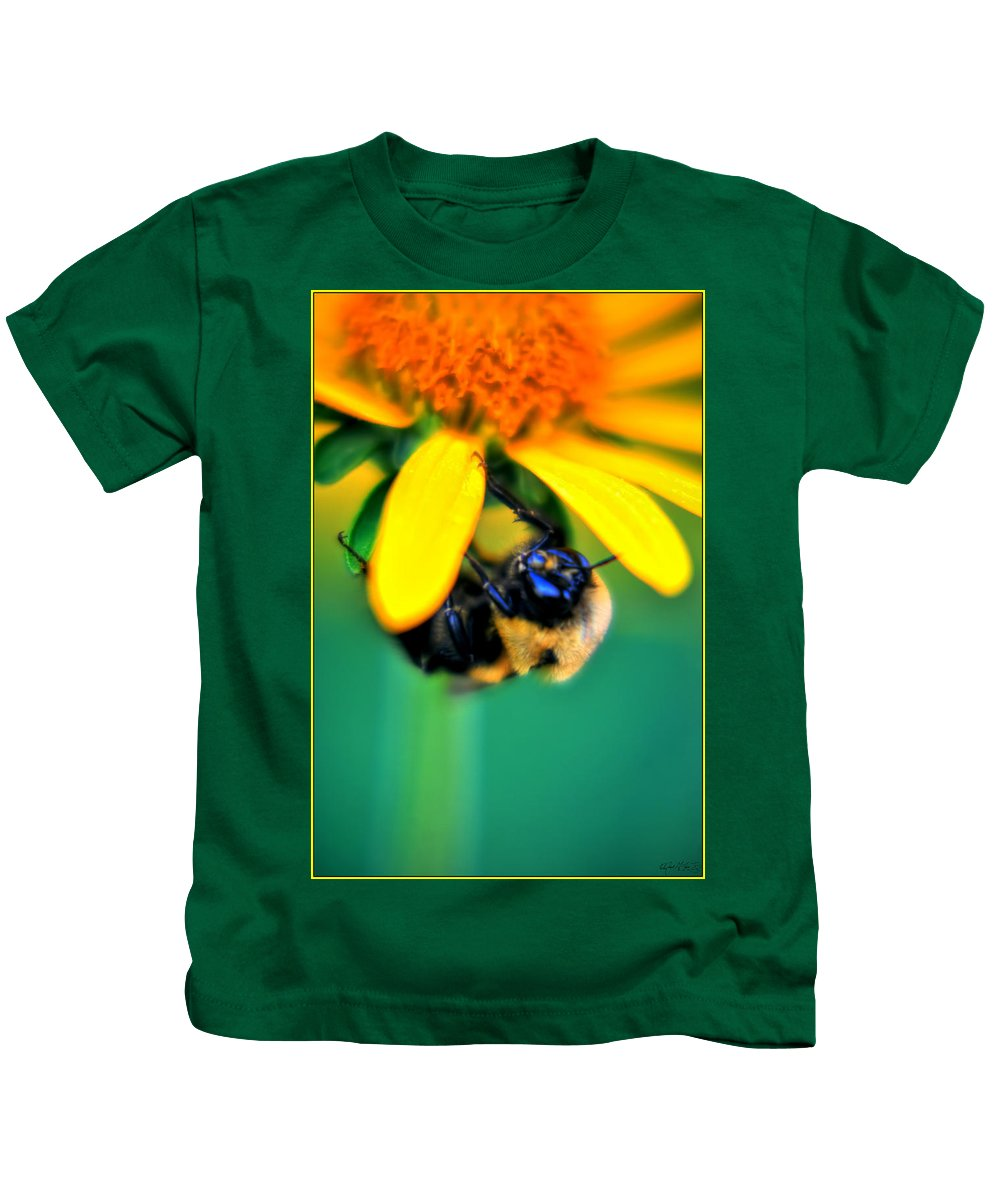 Kids T-Shirt featuring the photograph 003 Sleeping Bee Series by Michael Frank Jr
