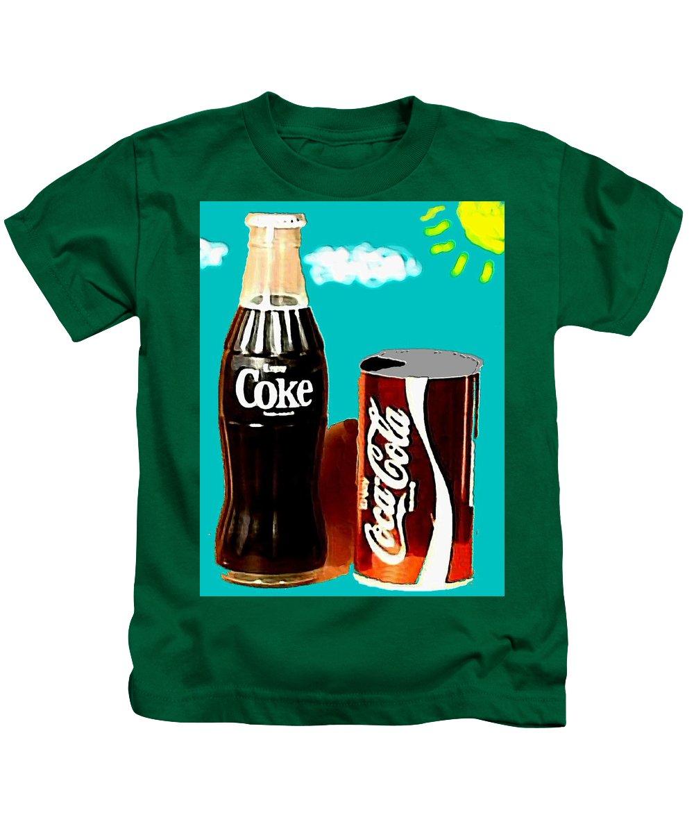 70s Kids T-Shirt featuring the digital art 70's Coke by Paul Van Scott