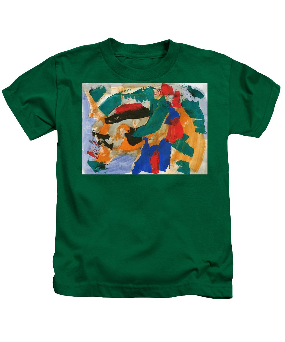 00003_c_12aj2kmfv50003 Kids T-Shirt featuring the painting Dark Feelings by Taylor Webb
