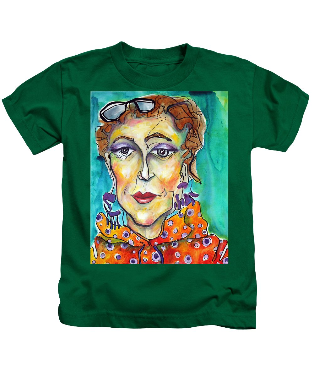 Portrait Kids T-Shirt featuring the painting Infinity by Darcy Lee Saxton