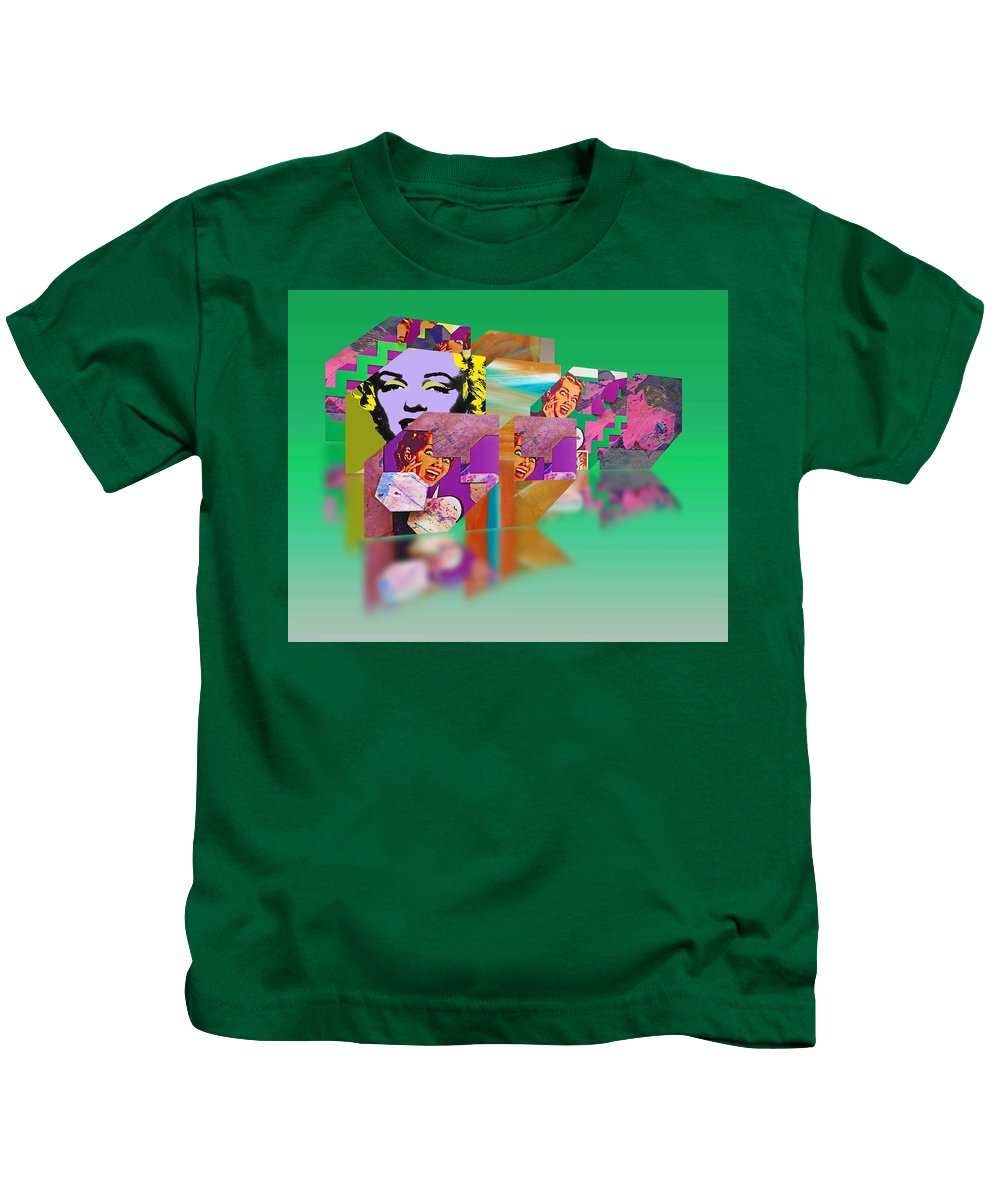 Scream Kids T-Shirt featuring the painting Shocking Green by Charles Stuart