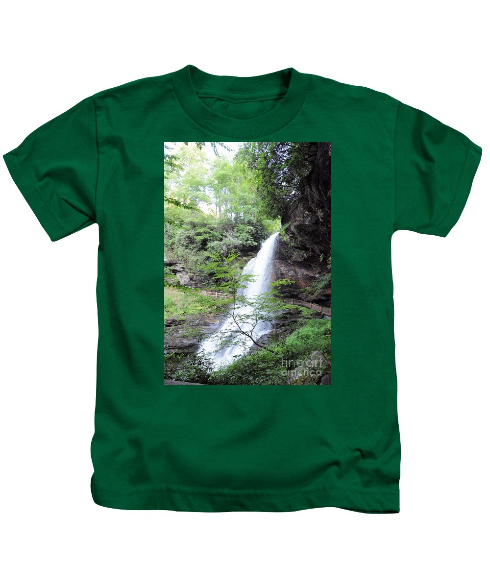 Dry Falls - Highlands Kids T-Shirt featuring the photograph Dry Falls by Savannah Gibbs