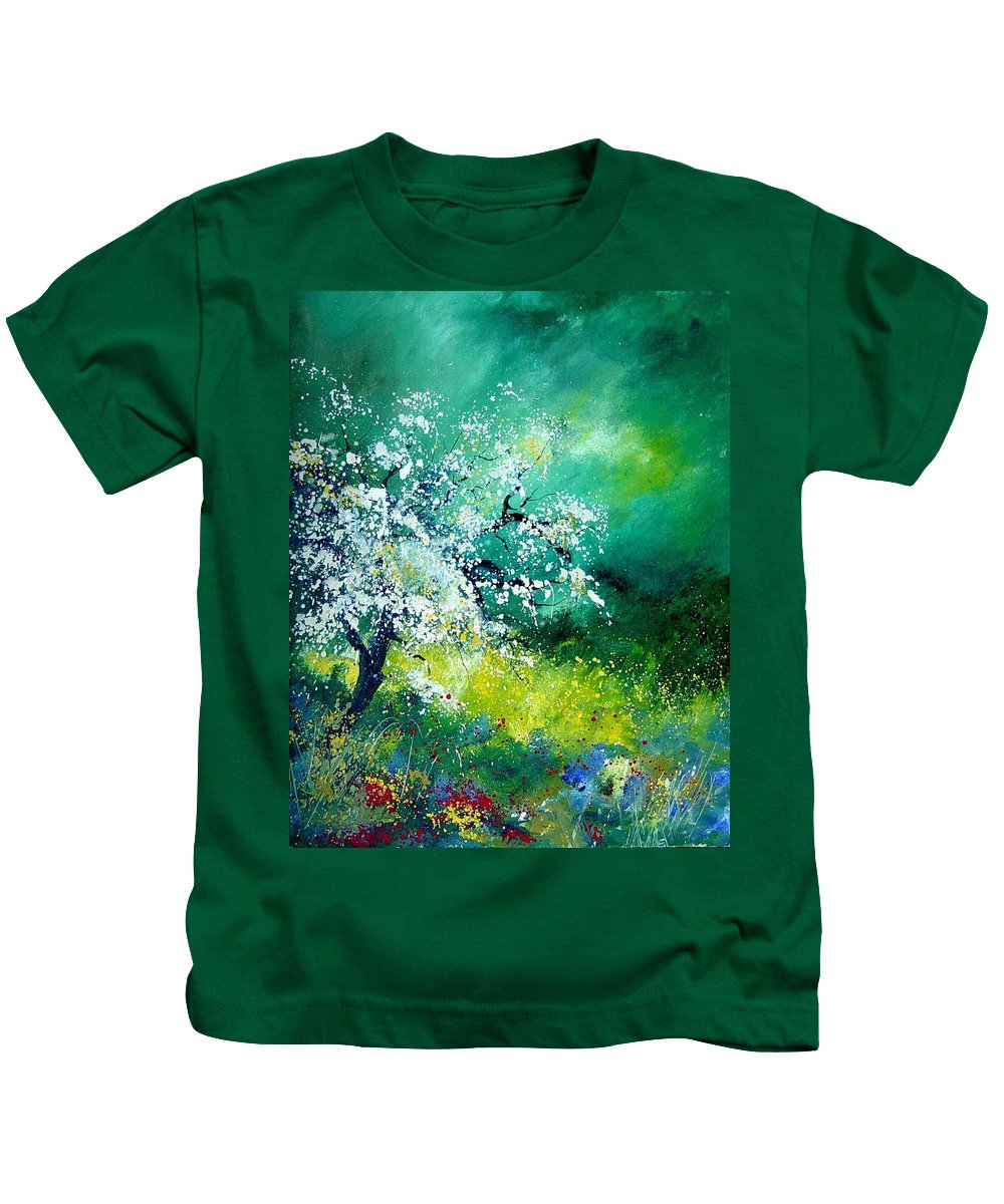 Flowers Kids T-Shirt featuring the painting Spring by Pol Ledent