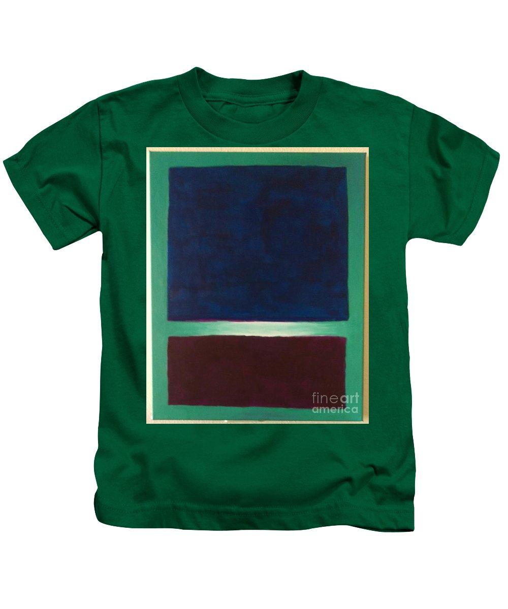 Abstract Kids T-Shirt featuring the painting #13 by Matt Raffel