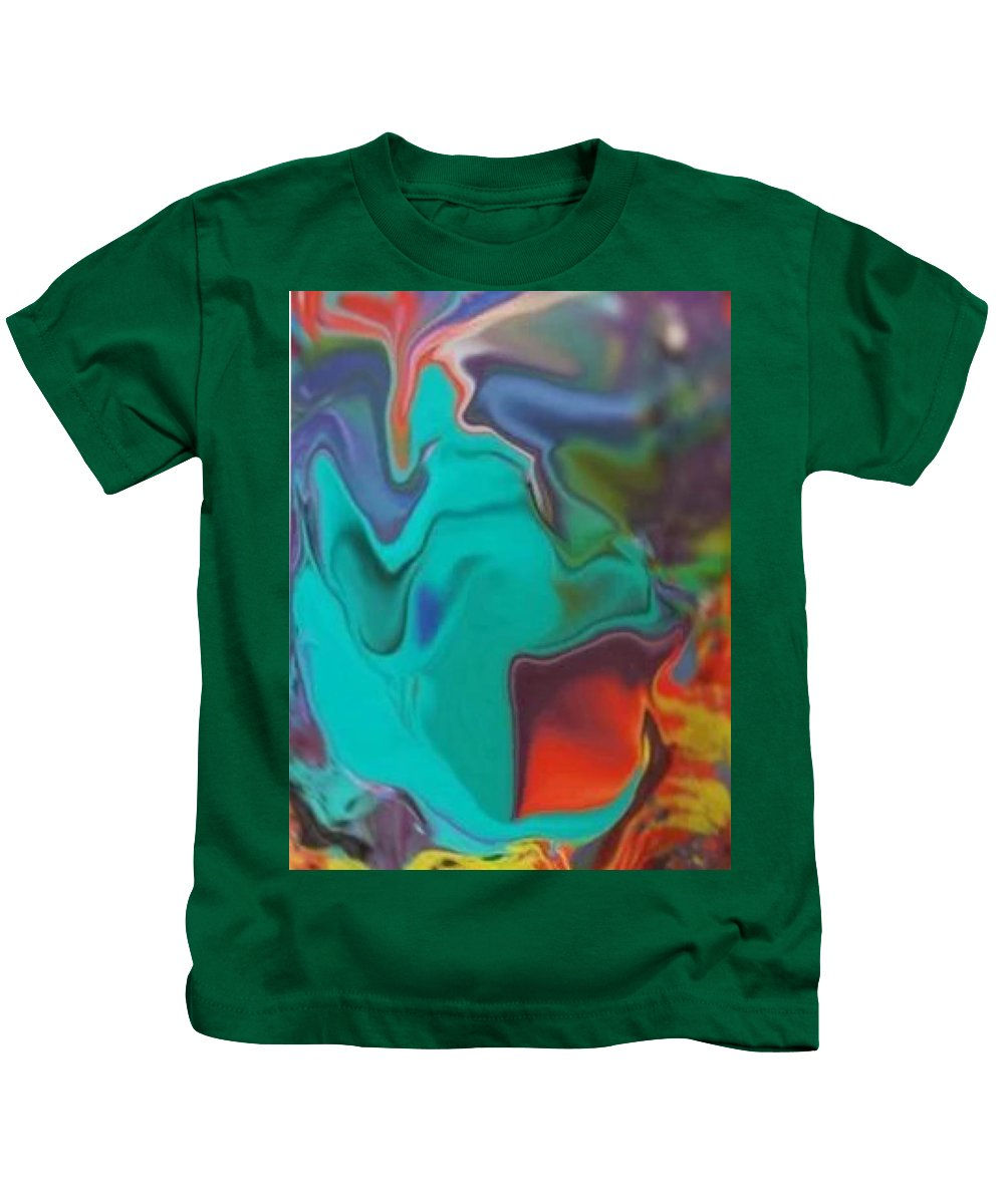 Digital Abstract Distortion Art Print Kids T-Shirt featuring the digital art Swirm by Roy Hummel