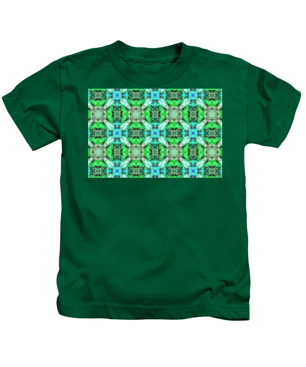 Marjan Mencin Kids T-Shirt featuring the digital art Arabesque 107 by Marjan Mencin