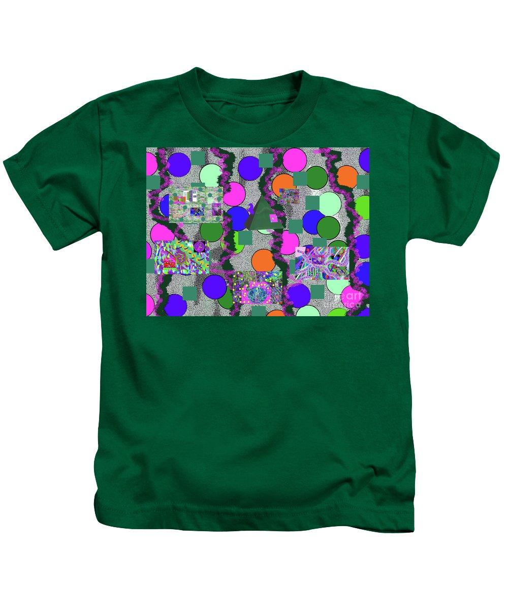 Walter Paul Bebirian Kids T-Shirt featuring the digital art 4-8-2015abcdefgh by Walter Paul Bebirian