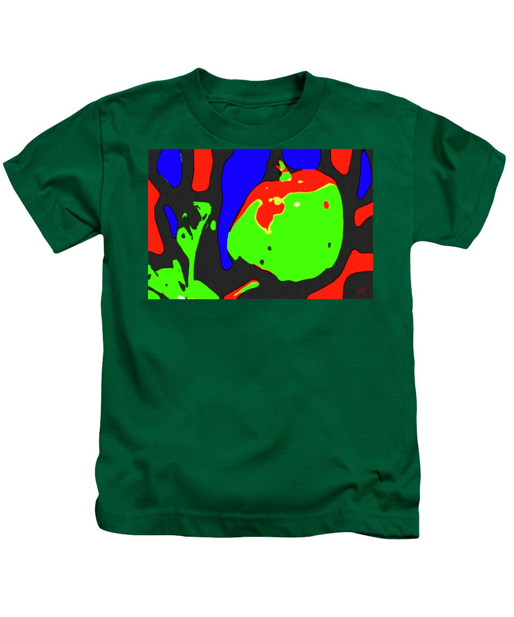 Abstract Kids T-Shirt featuring the photograph Abstract Baby Apple by Gina O'Brien
