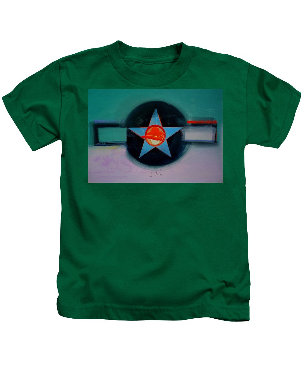 Star Kids T-Shirt featuring the painting American Landscape by Charles Stuart
