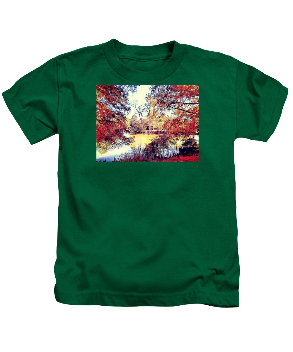 Island Kids T-Shirt featuring the photograph Autumn Island by James Maloney