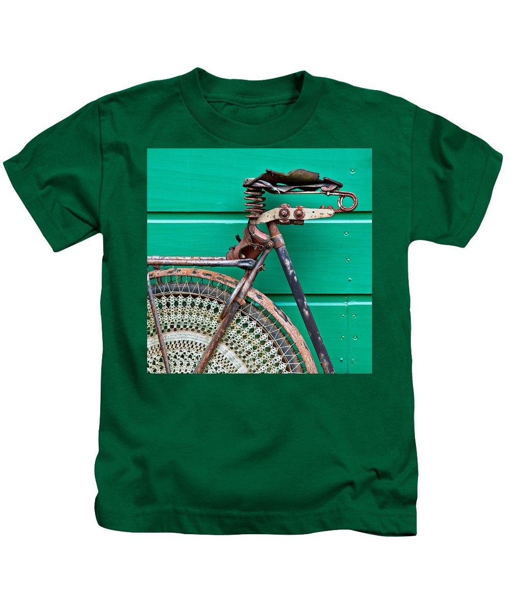 Bike Kids T-Shirt featuring the photograph Better Days by Dave Bowman