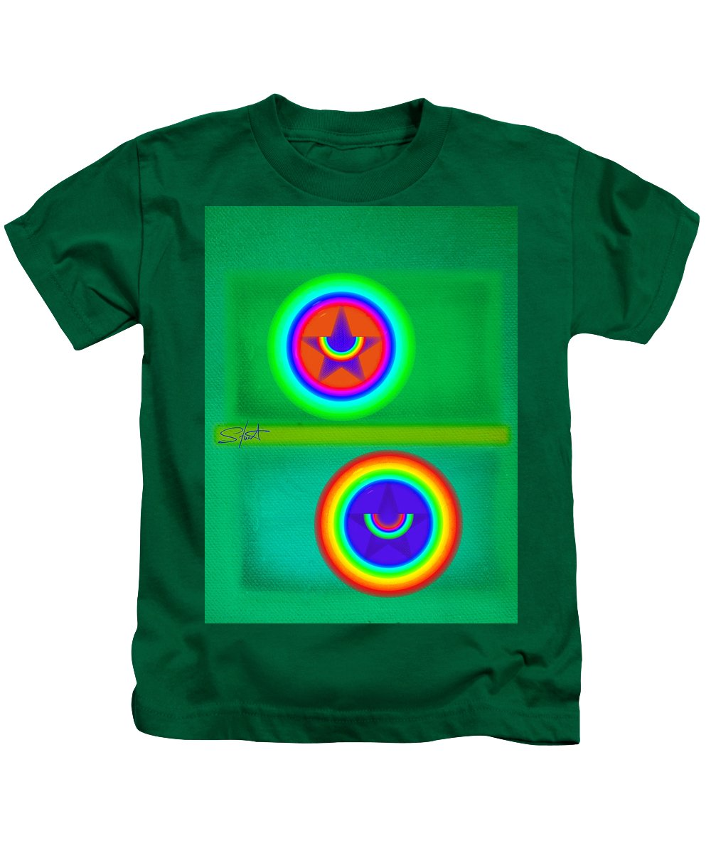 Balance Kids T-Shirt featuring the painting Circus Costume by Charles Stuart