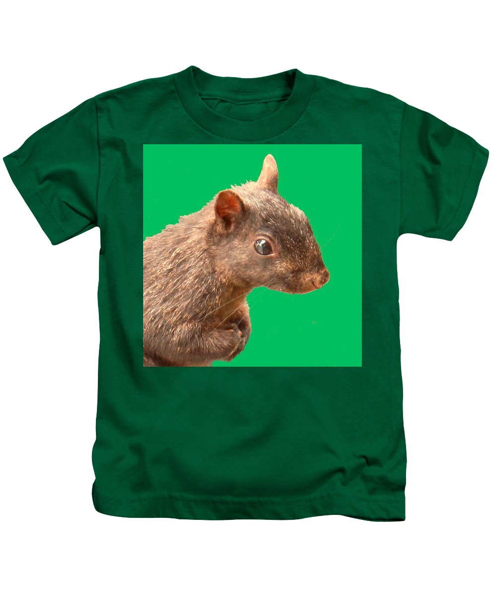 Squirrel Kids T-Shirt featuring the photograph Definately Bright Eyed by Ian MacDonald