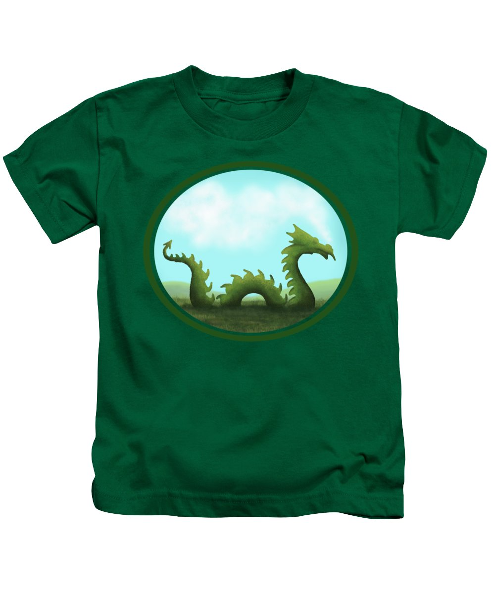 Dragon Kids T-Shirt featuring the painting Dream Of A Dragon by Little Bunny Sunshine