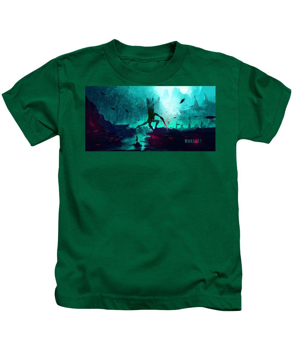 Duelyst Kids T-Shirt featuring the digital art Duelyst by Dorothy Binder