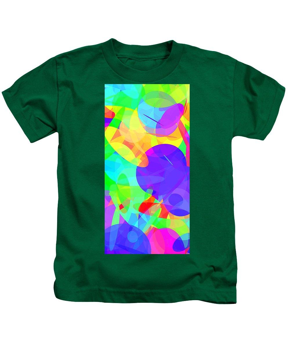 Ellipse Kids T-Shirt featuring the digital art Ellipses 16 by Chris Butler