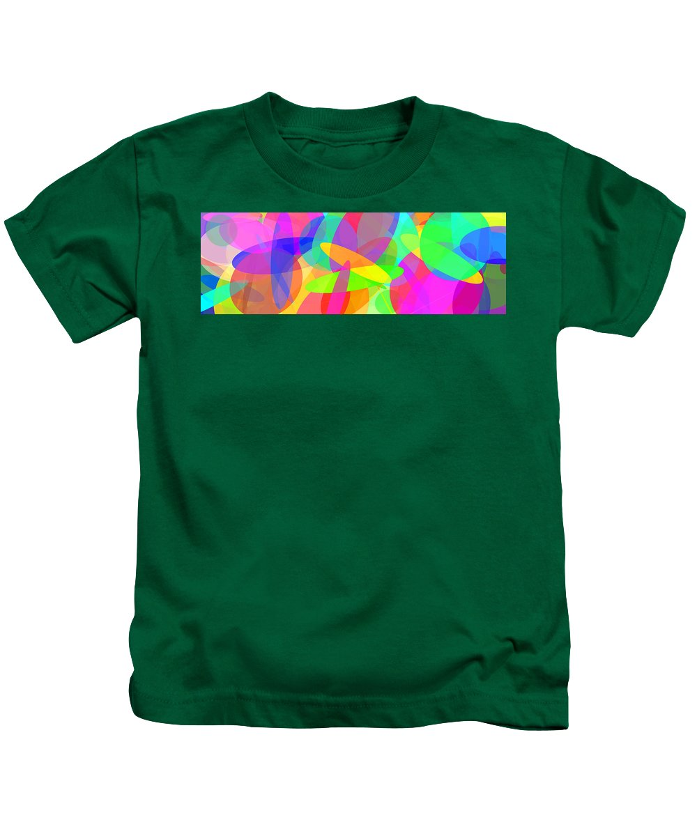 Ellipse Kids T-Shirt featuring the digital art Ellipses 8 by Chris Butler