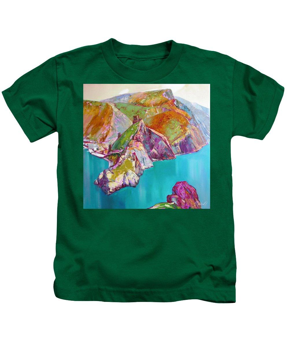 Ignatenko Kids T-Shirt featuring the painting Entry To Balaklaw by Sergey Ignatenko