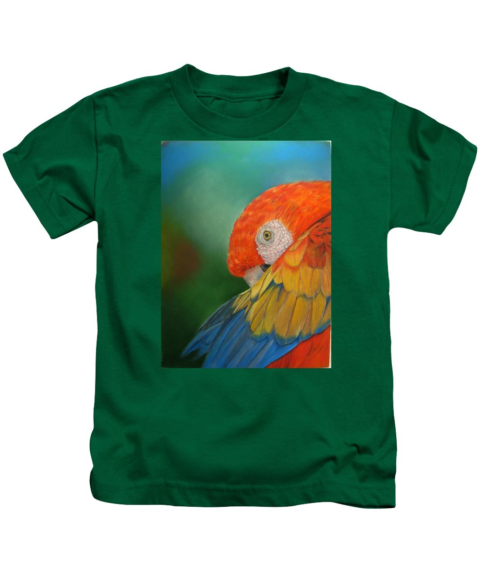 Bird Kids T-Shirt featuring the painting Escondida by Ceci Watson