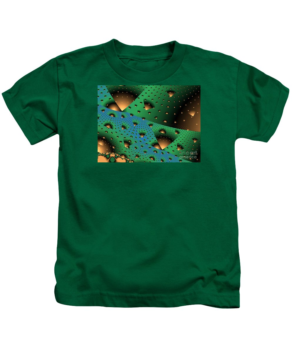Fractal Art Kids T-Shirt featuring the digital art Facades And Fenestration by Ron Bissett
