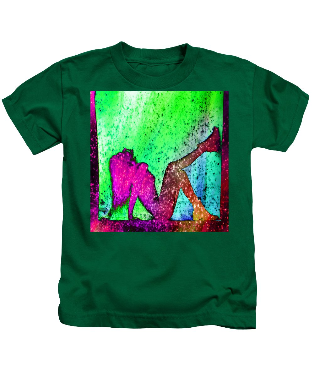 Feelings Explosion Kids T-Shirt featuring the photograph Feelings Explosion V2 by Alex Art and Photo