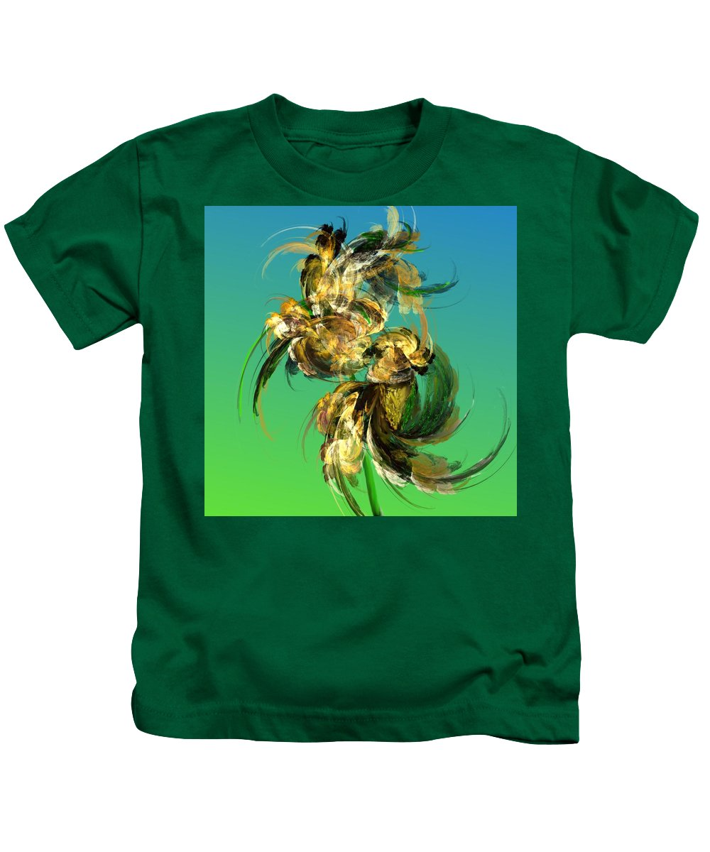 Fine Art Kids T-Shirt featuring the digital art Floral Still Life Fantasy by David Lane