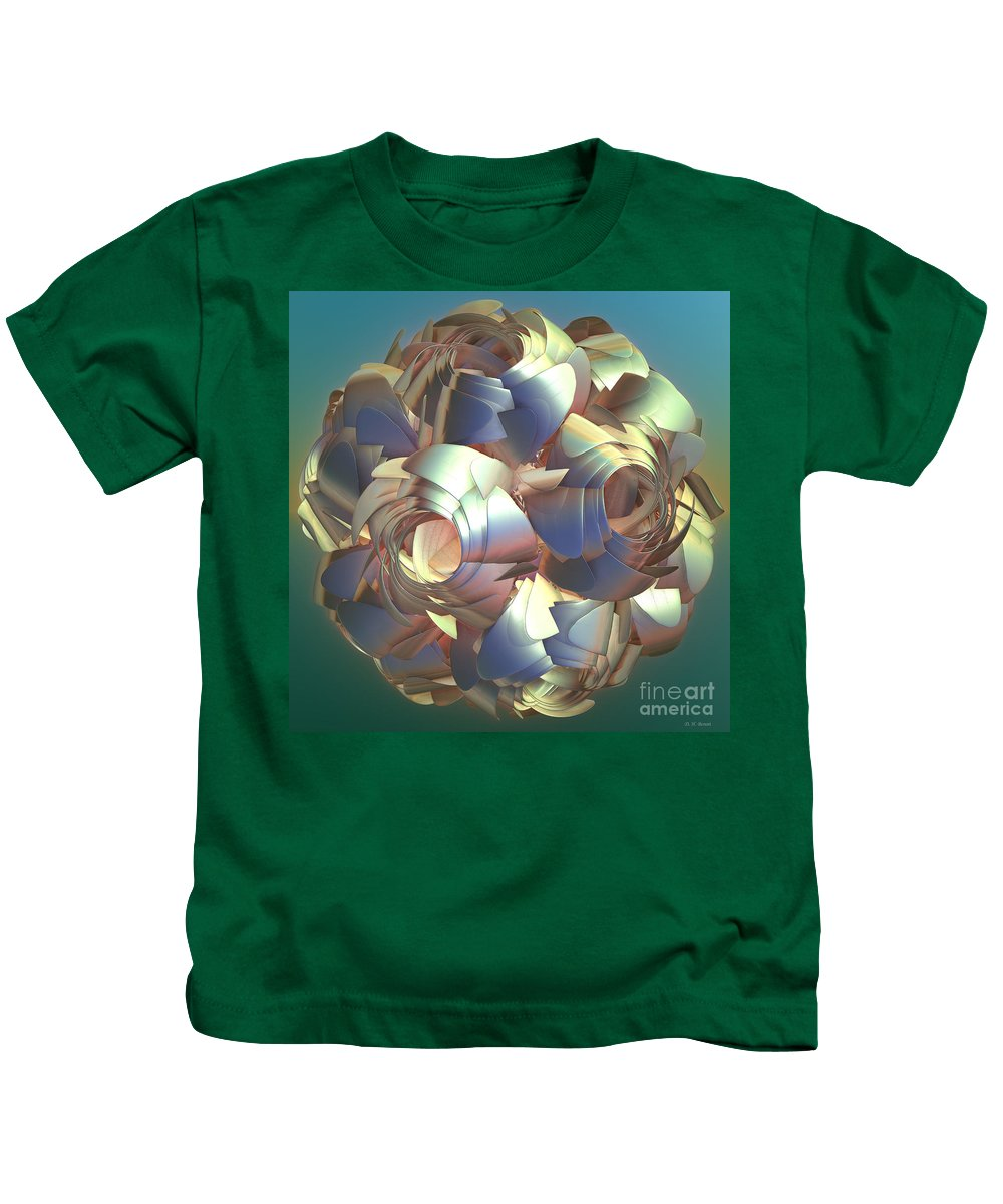 Digital Kids T-Shirt featuring the digital art Flower Globe by Deborah Benoit