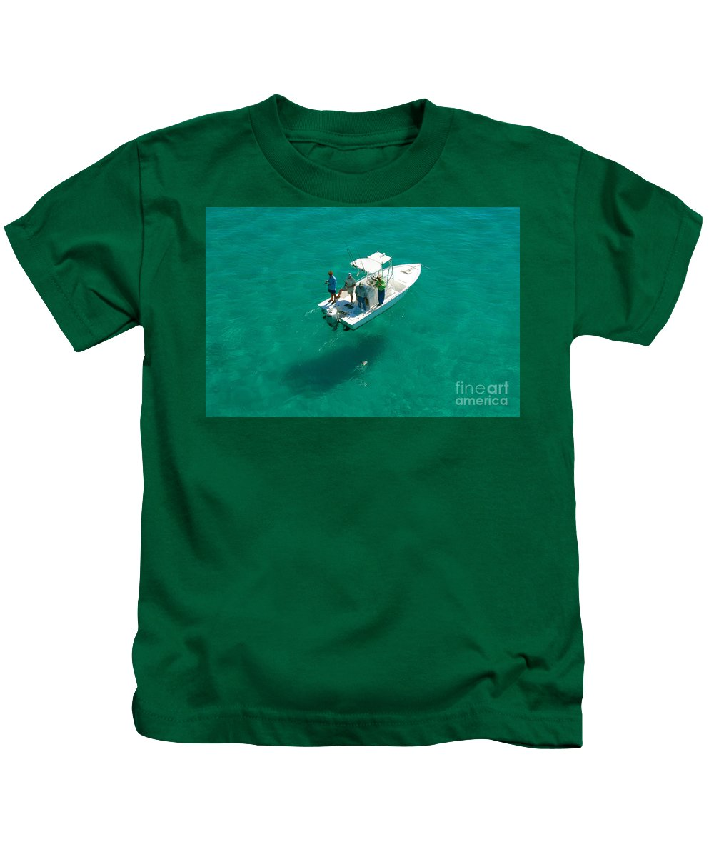 Fishing Kids T-Shirt featuring the photograph Four Fishermen by David Lee Thompson