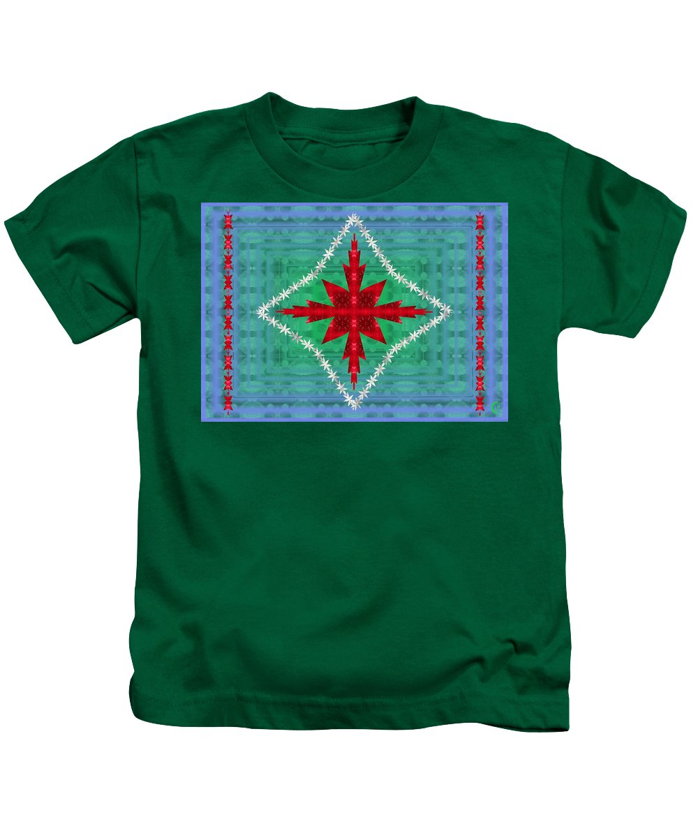 Geometric Kids T-Shirt featuring the digital art Geometric Fantasy by Christopher Jay