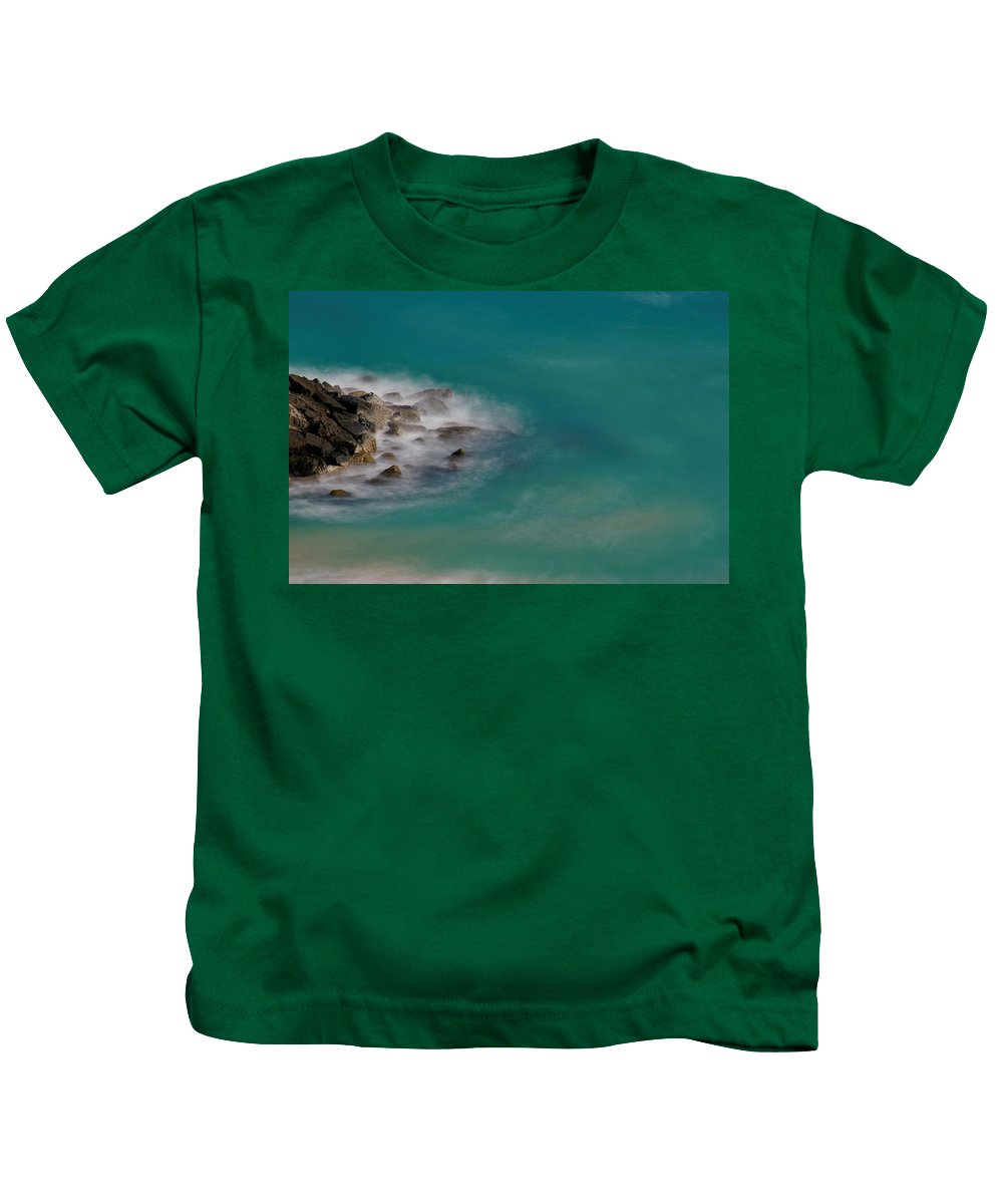 Wall Kids T-Shirt featuring the photograph Ghostly Rocks by Brian Kamprath