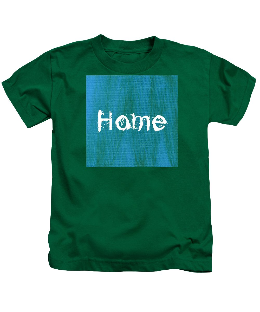 Love Kids T-Shirt featuring the mixed media Home by Kathleen Wong