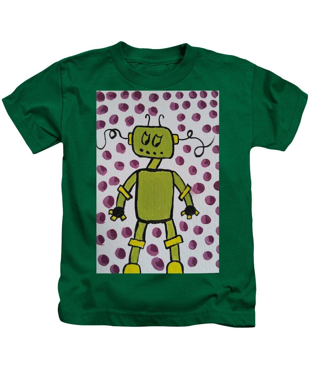 Purple Kids T-Shirt featuring the painting Immunization by Kelly Brimberry