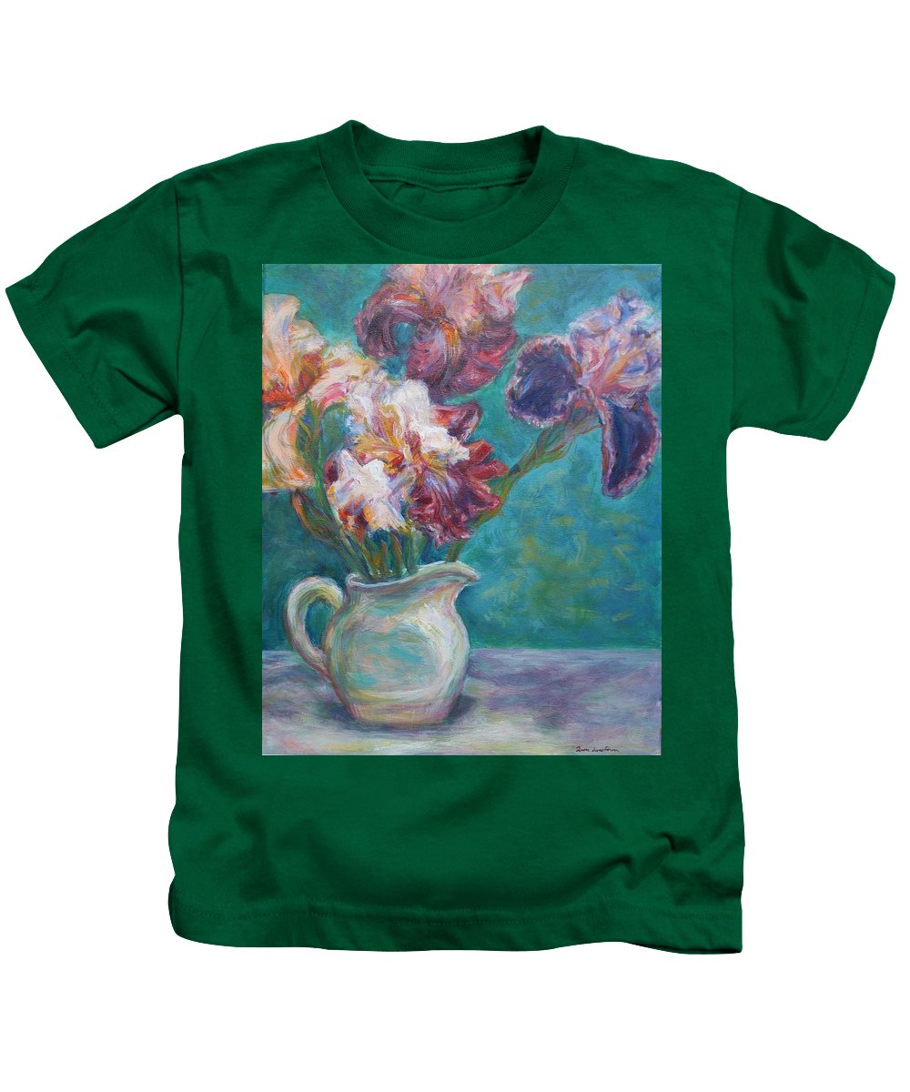 Impressionist Kids T-Shirt featuring the painting Iris Medley - Original Impressionist Painting by Quin Sweetman