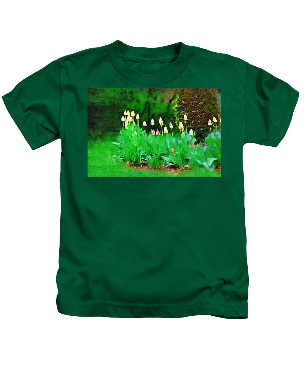 Landscape Kids T-Shirt featuring the photograph Joe's Tulips by Donna Bentley