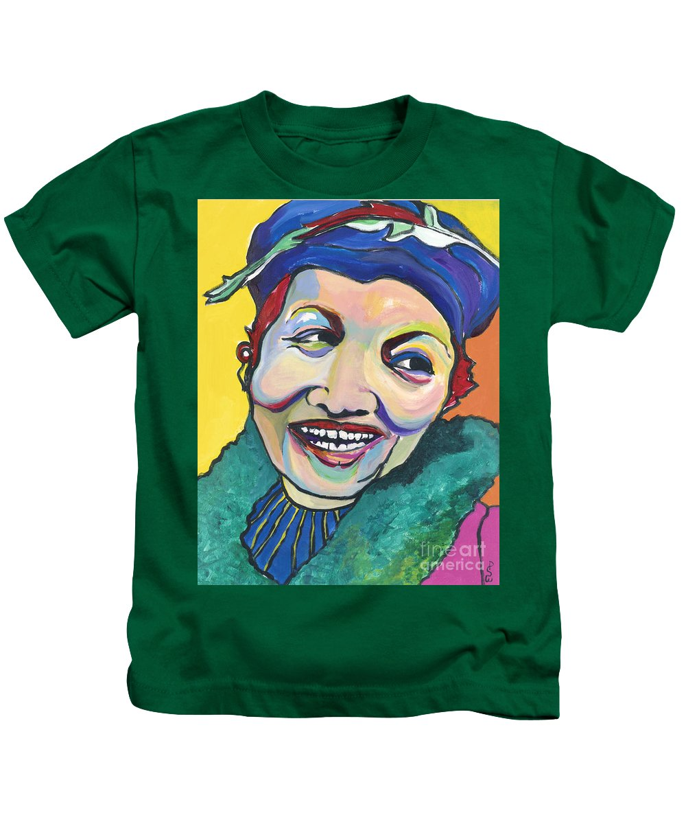 Hat Kids T-Shirt featuring the painting Koko Vivienne by Pat Saunders-White