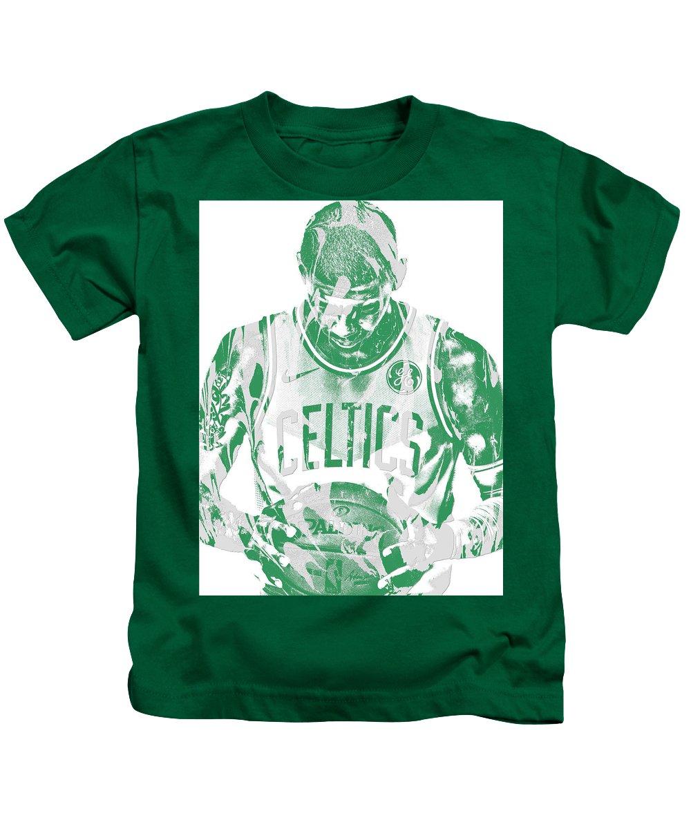 2bfd7ea828ee Kyrie Irving Boston Celtics Pixel Art 5 Kids T-Shirt for Sale by Joe  Hamilton