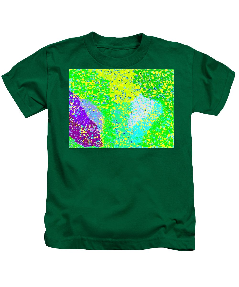 Abstract Kids T-Shirt featuring the digital art Lilac Lane by Will Borden