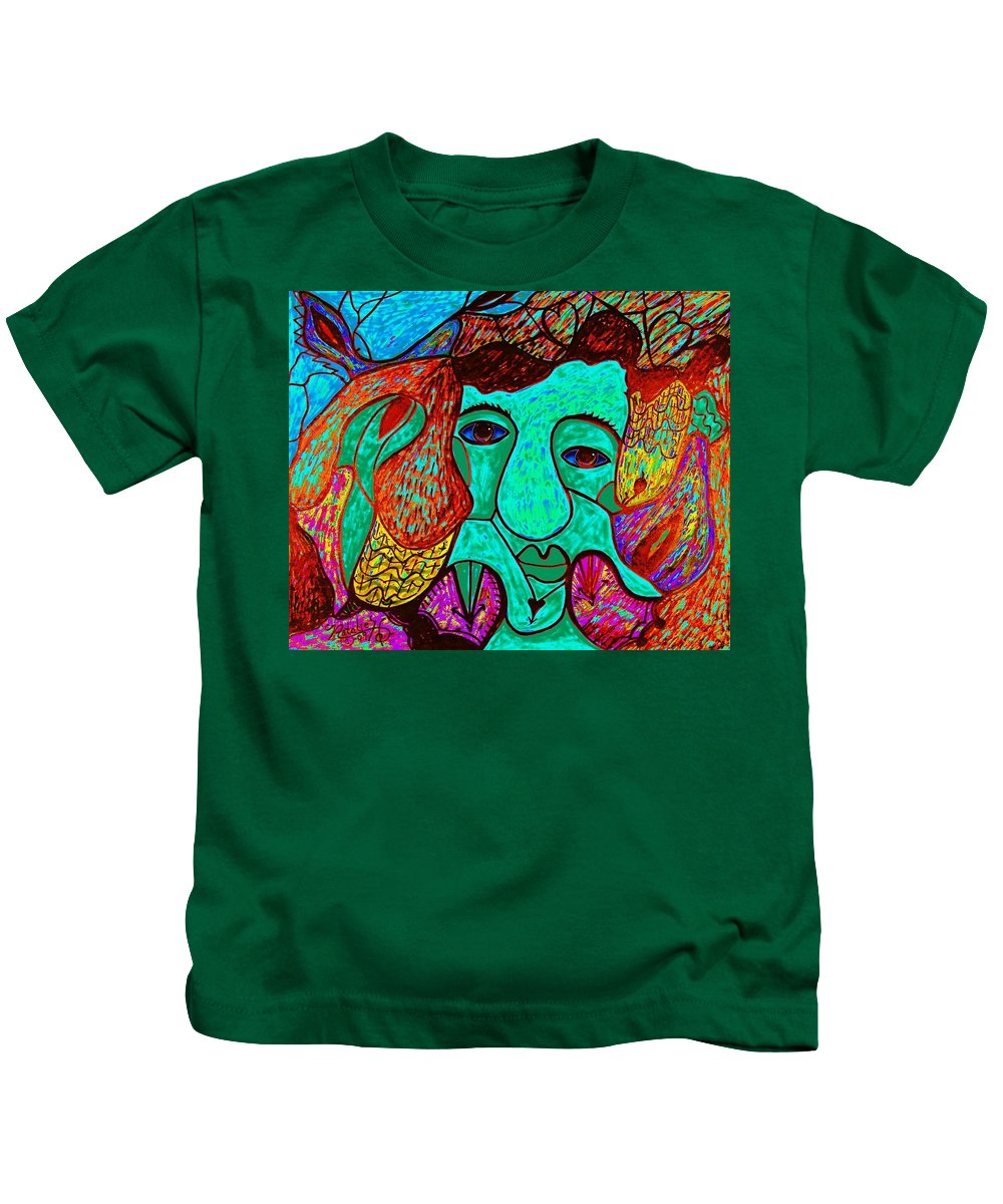 Man Kids T-Shirt featuring the painting Looking For Love by Natalie Holland