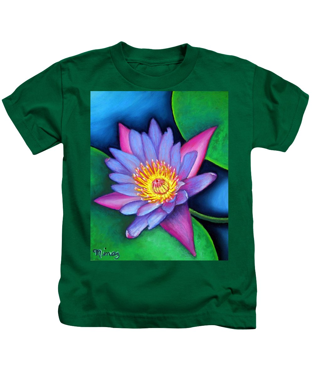 Flower Kids T-Shirt featuring the painting Lotus Divine by Minaz Jantz