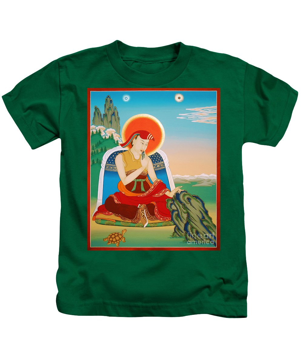 Ma Rinchen Chok Kids T-Shirt featuring the painting Ma Rinchen Chok by Sergey Noskov