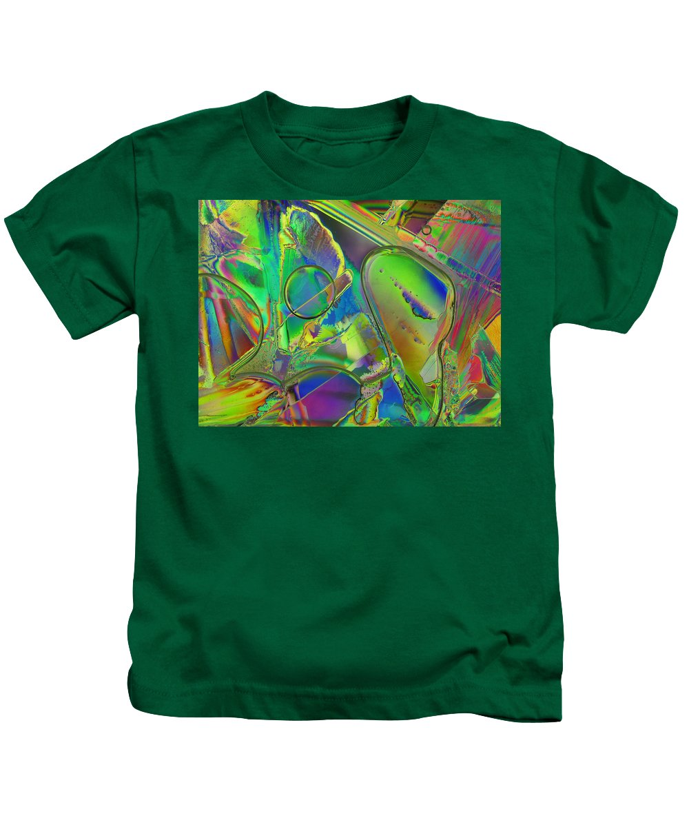 Ice Kids T-Shirt featuring the photograph Melting Ice by Carol Berget