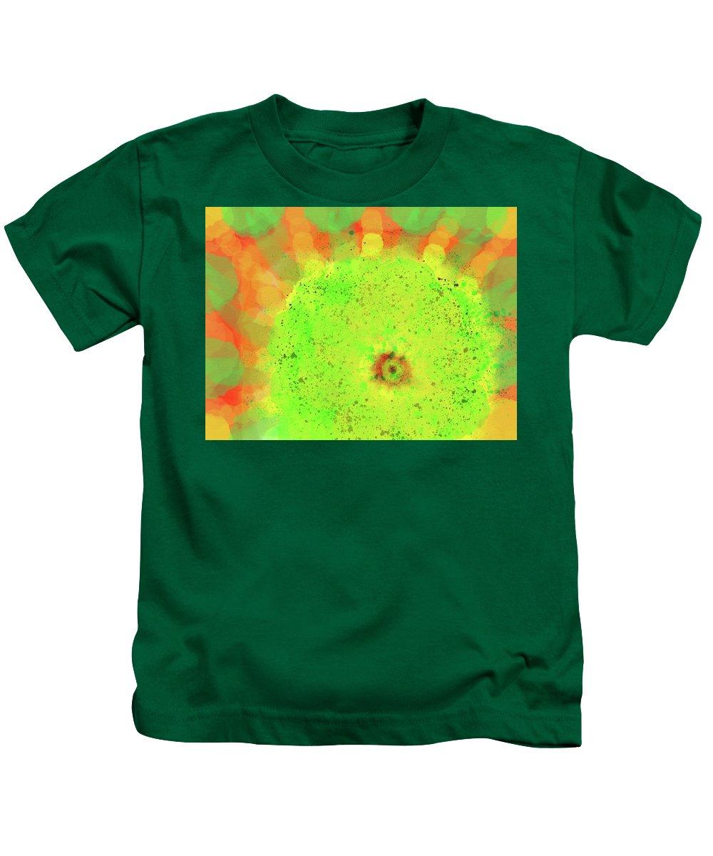 Sunflower Kids T-Shirt featuring the digital art Sunflower by Anastasija Ribockina
