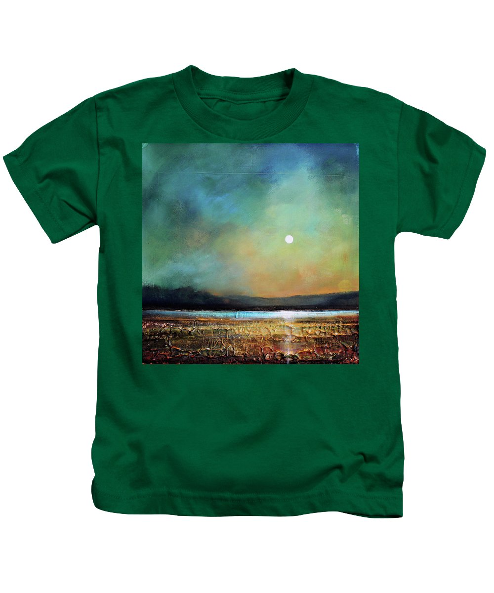 Tonalist Kids T-Shirt featuring the painting Moody Light by Toni Grote