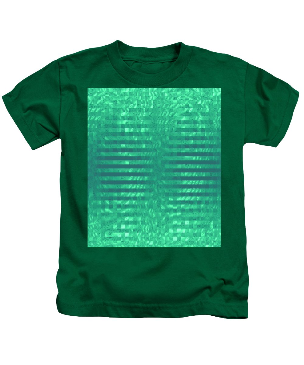 Moveonart! Global Gathering. -- Jacob Kane -- Omnetra Kids T-Shirt featuring the digital art Moveonart Codegreen by Jacob Kanduch