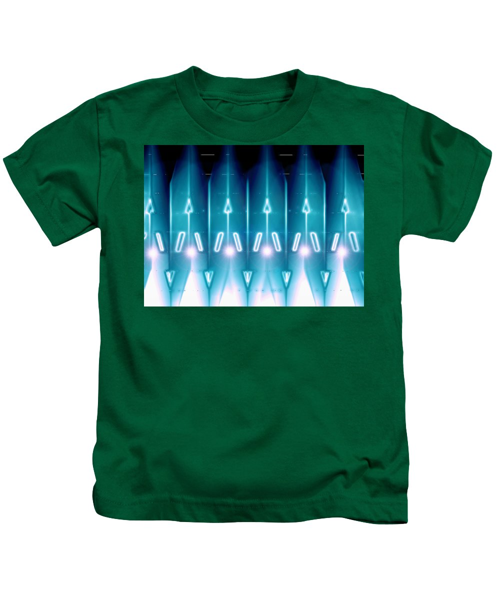 Moveonart! Digital Gallery Kids T-Shirt featuring the digital art Moveonart Galactic Gaurdians by Jacob Kanduch
