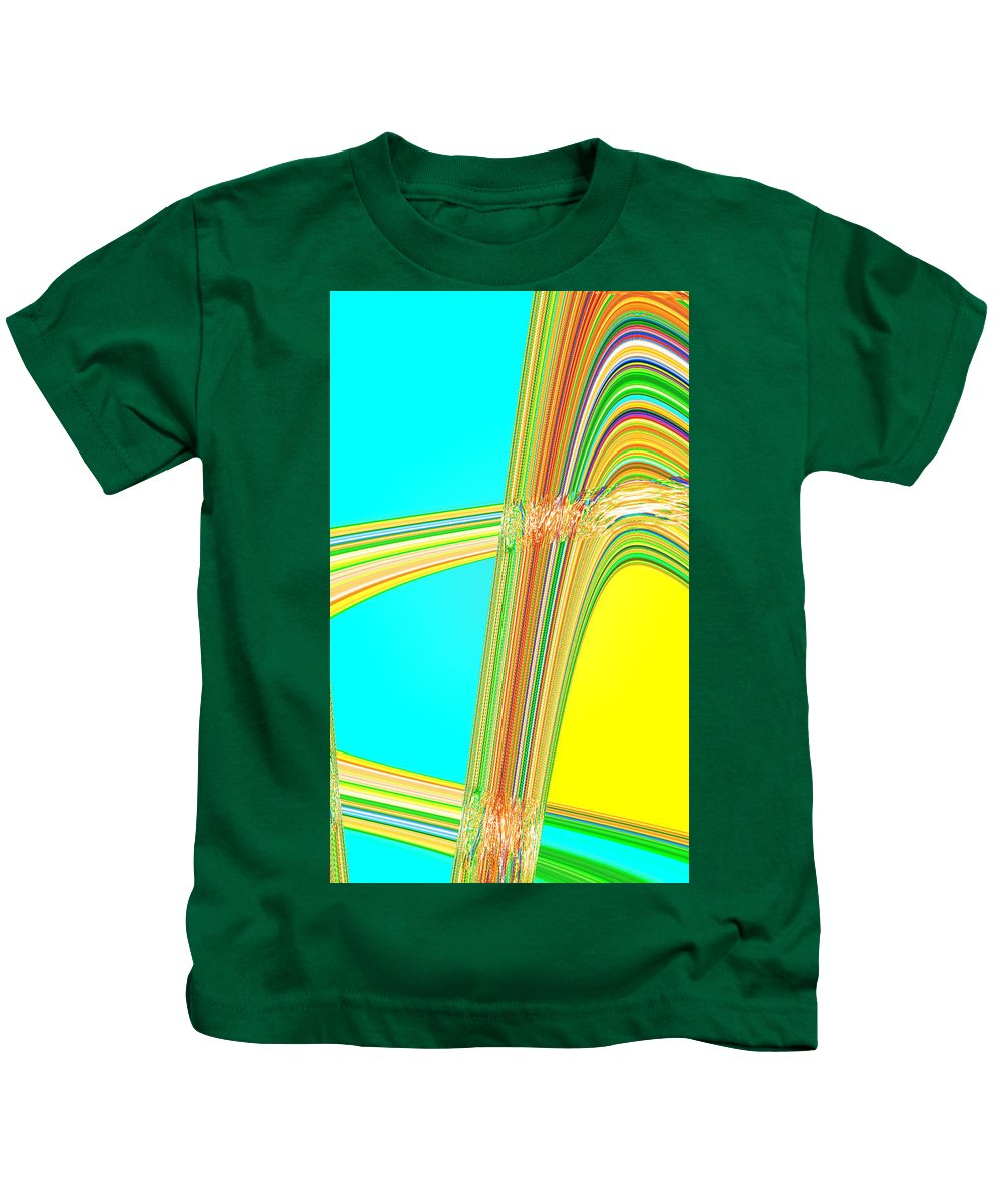 Moveonart! Digital Gallery Kids T-Shirt featuring the digital art Moveonart Total Increase In Light And Waves by Jacob Kanduch