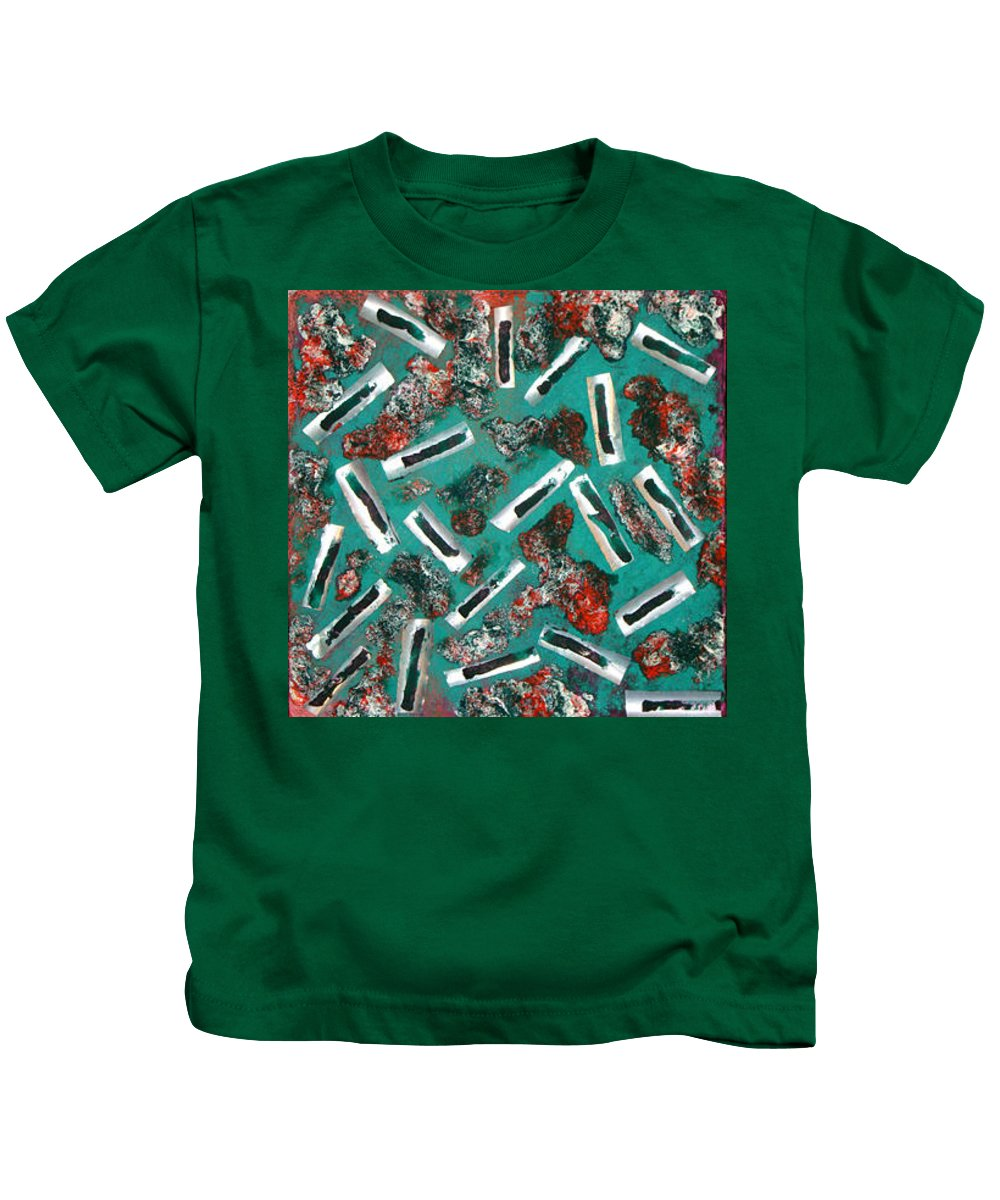 Moveonart! Digital Gallery Kids T-Shirt featuring the painting Moveonart Untitled 3 2005 by Jacob Kanduch